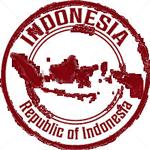 Tampon République Indonésie encre rouge