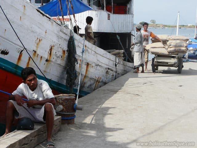 ancien port makassar sulawesi bateau