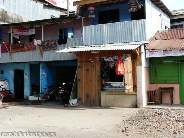 ancien port makassar sulawesi maisons pecheurs