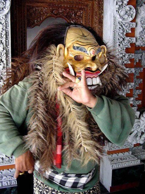artiste bali indonesie pak nengah karsa creation masque traditionnel