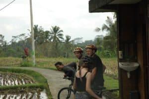 balade vélo bali rizières