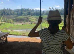 balancoire rizières bali indonesie