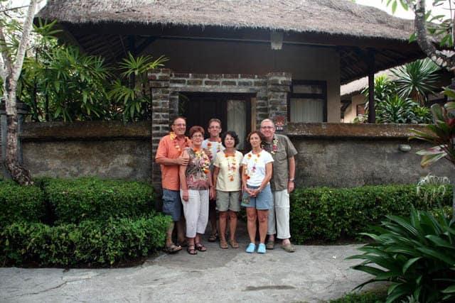 Bali Authentique client Claire Danielle Sylvie Claude Eric et ean Michel