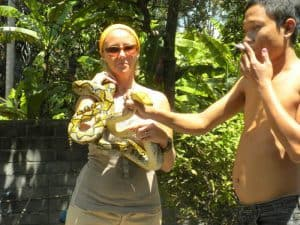 Bali Authentique client Nathalie serpent
