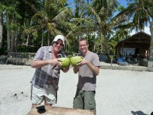 Bali Authentique client Pascale Paul young coconut