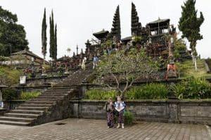 Bali Besakih temple client Irene Daniel