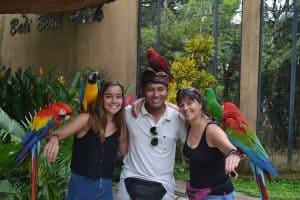 Bali bird park guide Bali Authentique client Aux