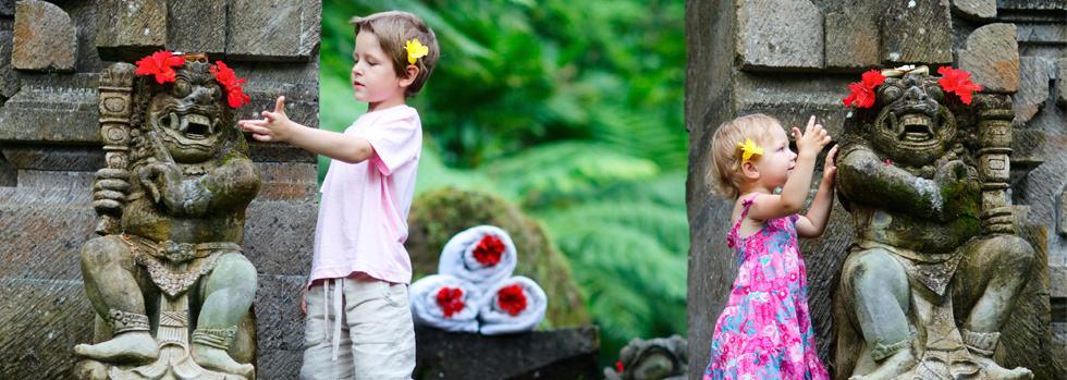 Bali children statue