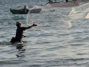 Bali fishing fisherman net marine livelihood