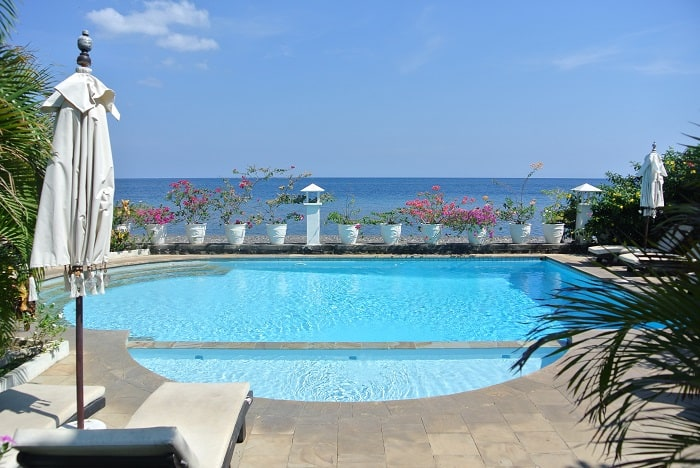 bali hotel amed piscine