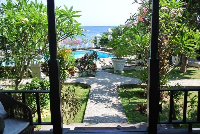 bali hotel amed vue piscine