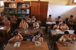 Bali Étude sur les enfants des écoles locales