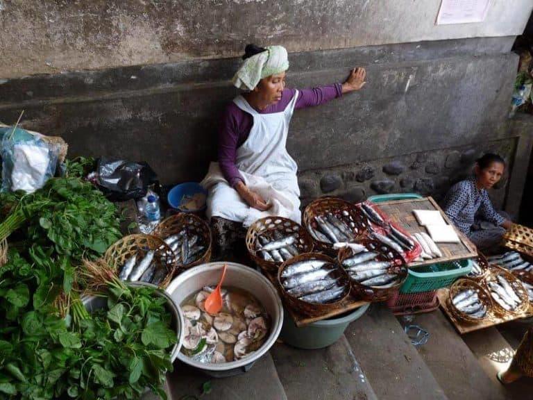 Bali marché poisson