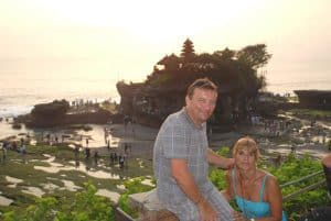 Bali Temple Tanah Lot sunset Bali Authentique client Challe