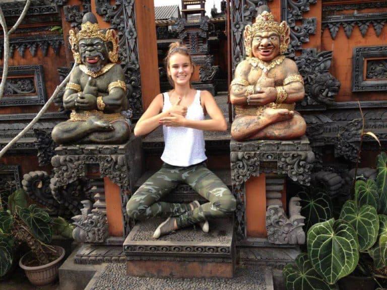 Bali touriste prie