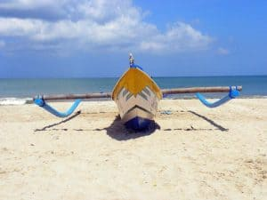 Bali bateau traditionnel plage