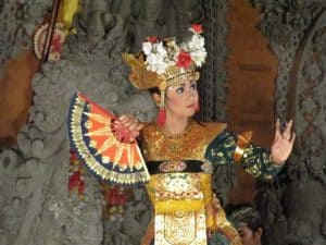 Bali traditional custom dance joged