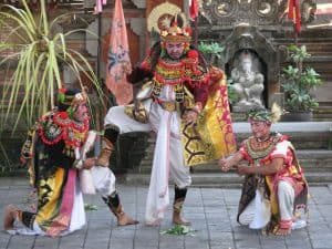 Bali traditional dance mask sendratari