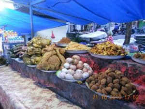 Bali traditional market food
