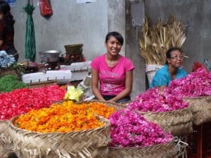 Bali traditional market ubud florist