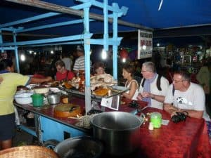 Bali traditional night market food client Claire Danielle Sylvie Claude Eric et Jean Michel