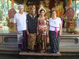 Bali traditional wedding client Christiane Jacques Bali Authentique