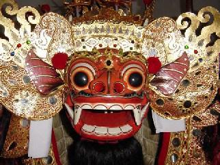 Masque de démon Balinais