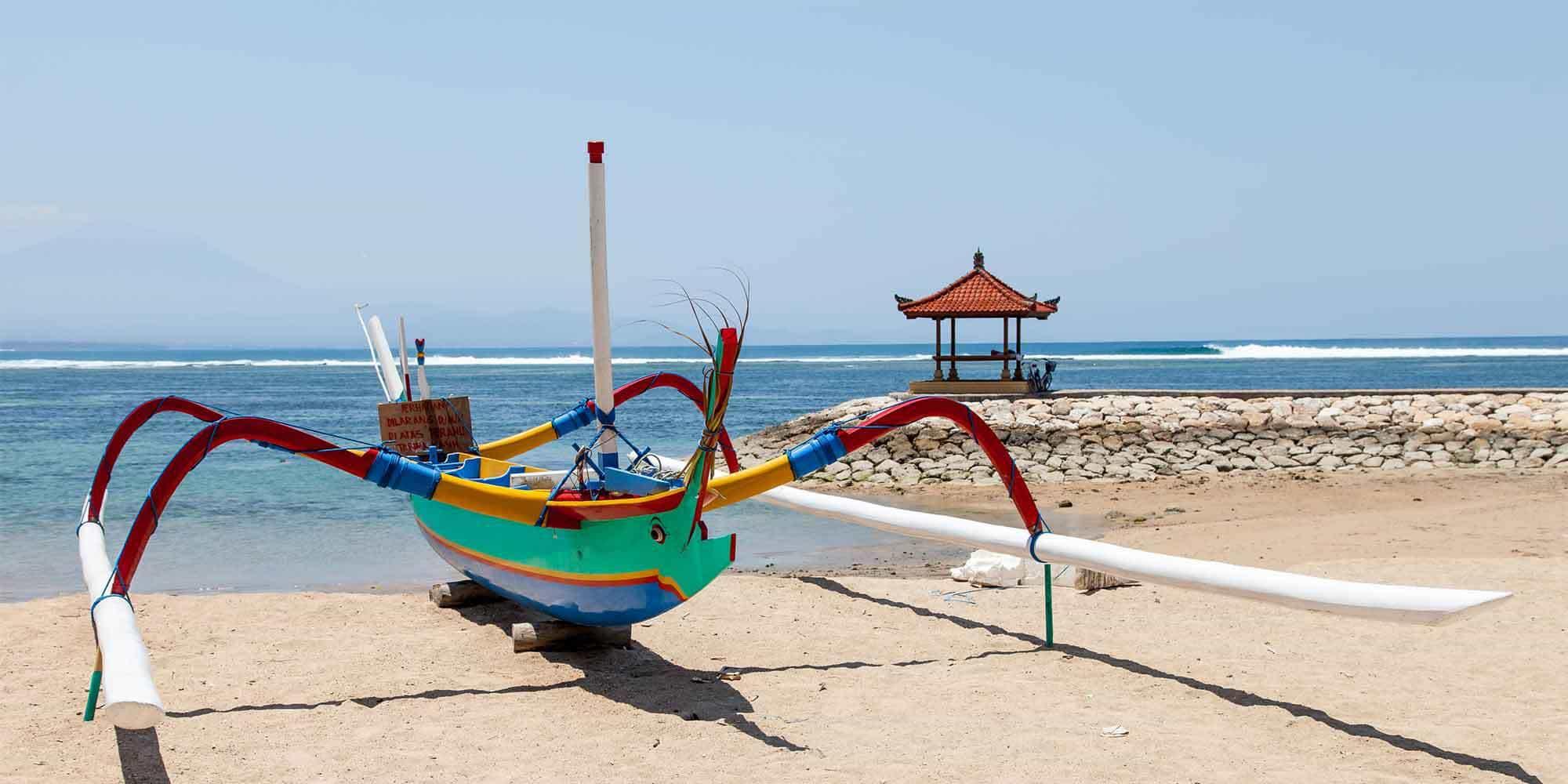 Sanur bateau artisanal plage bali