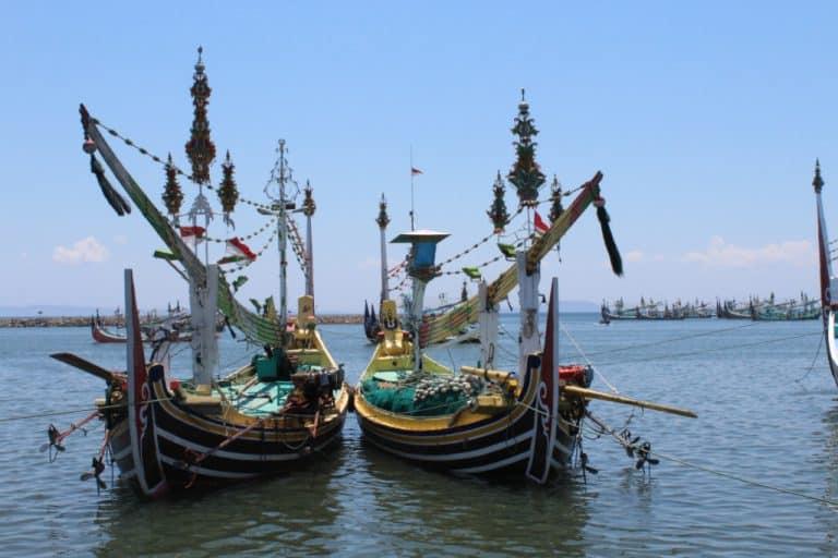 ile de java paysage bateaux