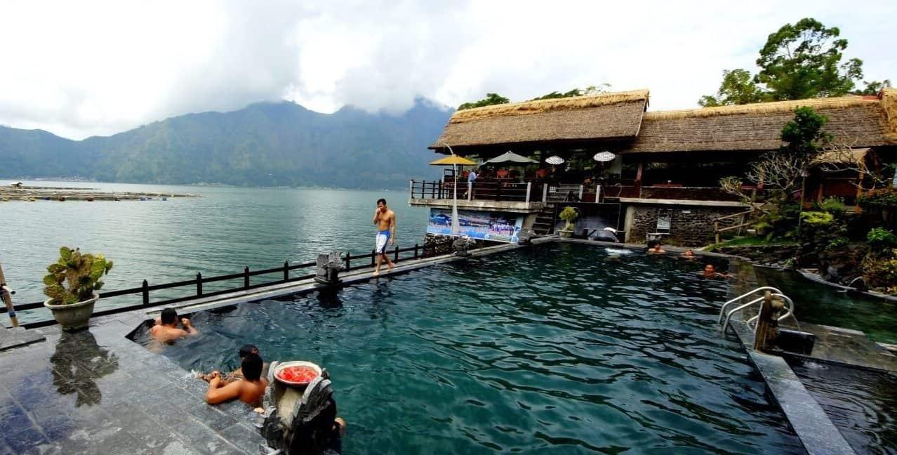 batur hot water lake bali