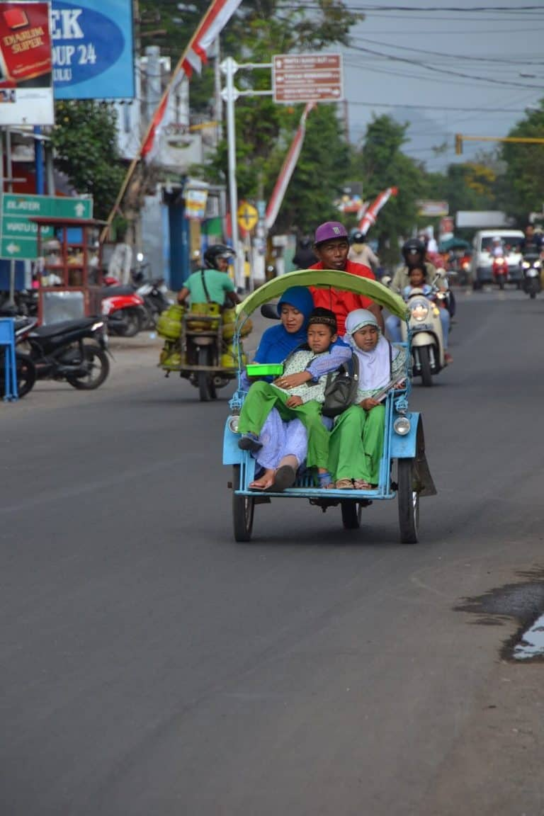 becak java indonesie