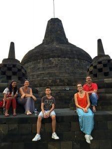 borobudur vacances familiale indonésie