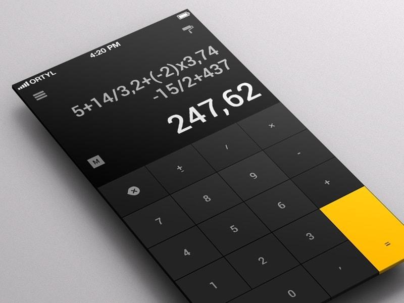 calculette design