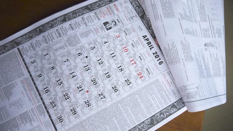 calendrier balinais indonésien