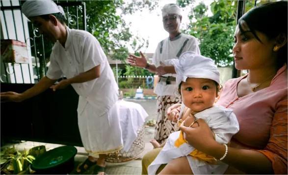 cérémonie pour enfant balinais