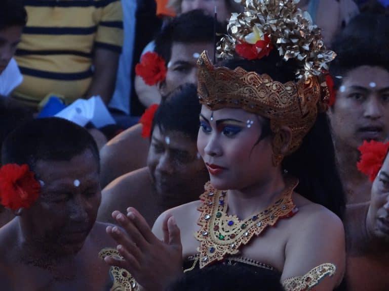 représentation danse traditionnelle balinaise