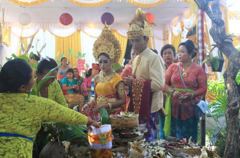 cérémonie mariage balinais
