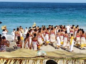 cérémonie sur la plage bali
