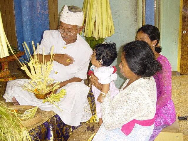 cérémonie traditionnelle 3 mois d'un enfant