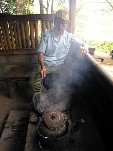 comment fabriquer café ile bali indonesie