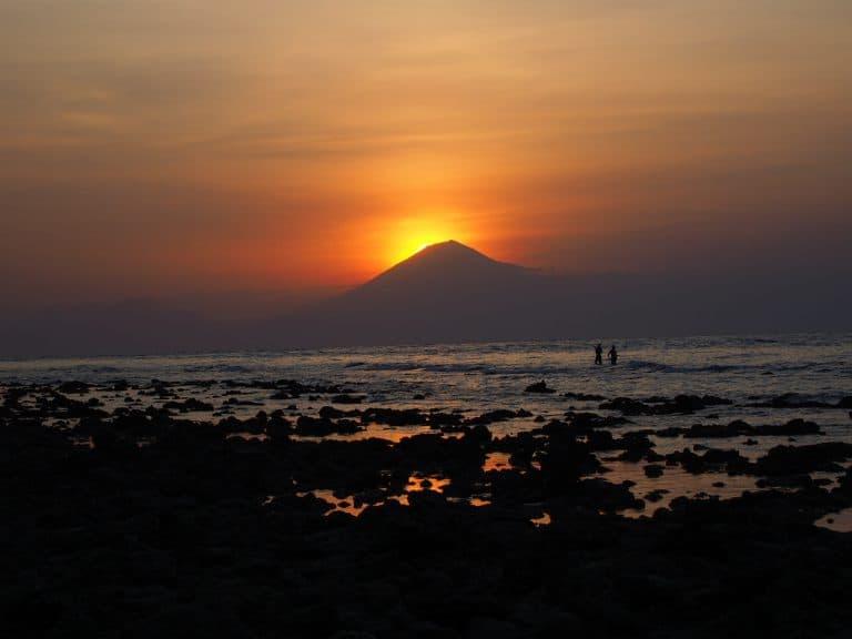 ile gili trawangan coucher de soleil indonésie