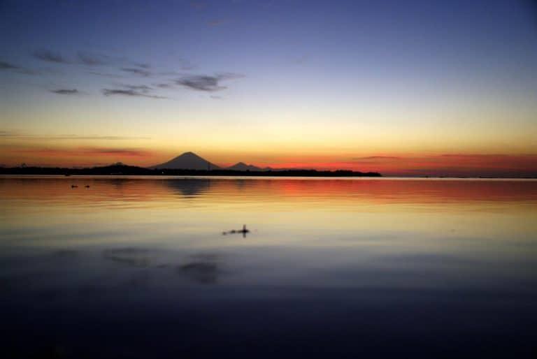 coucher du soleil bali indonésie
