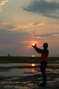 paysage coucher de soleil indonésie