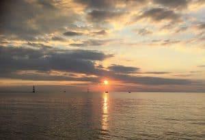 sunset lombok paysage indonésie