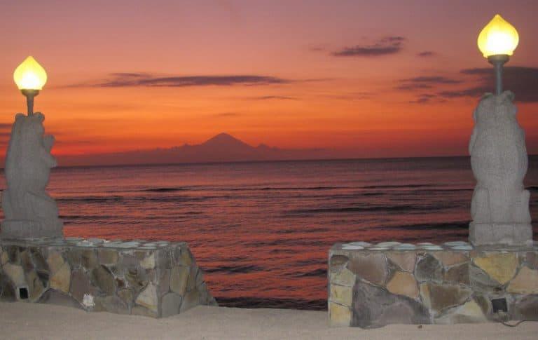 lombok coucher de soleil vue grandiose