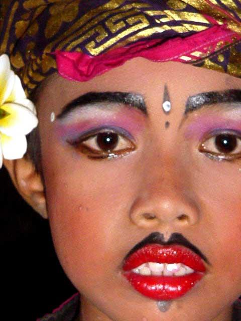 danseurs balinais enfants portrait maquillage