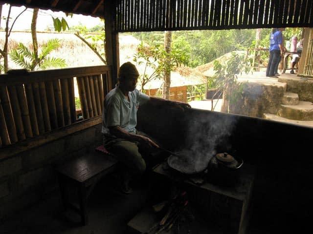 fabrication artisanale café ile bali indonesie
