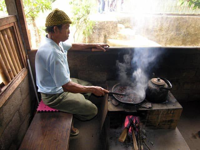 fabrication café ile bali indonesie torrefaction
