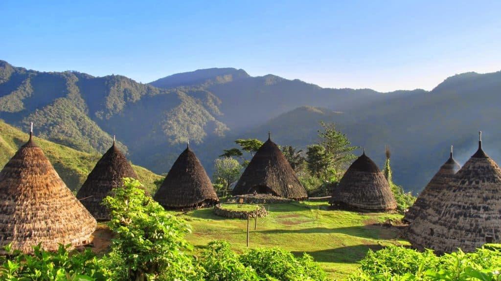 Flores Indonésie Wae Rebo village traditionnel