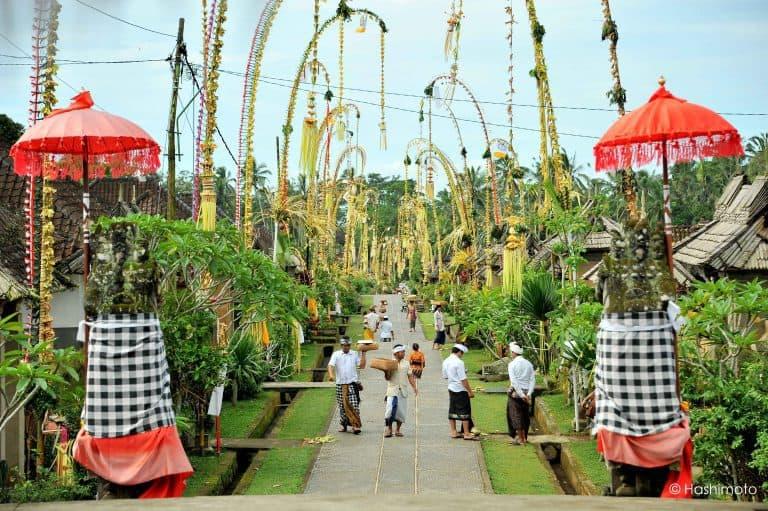 galungan fête du village bali